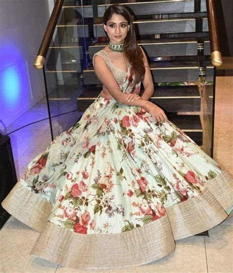 25 Splendid Floral Lehenga Choli Designs 2018 ? SheIdeas