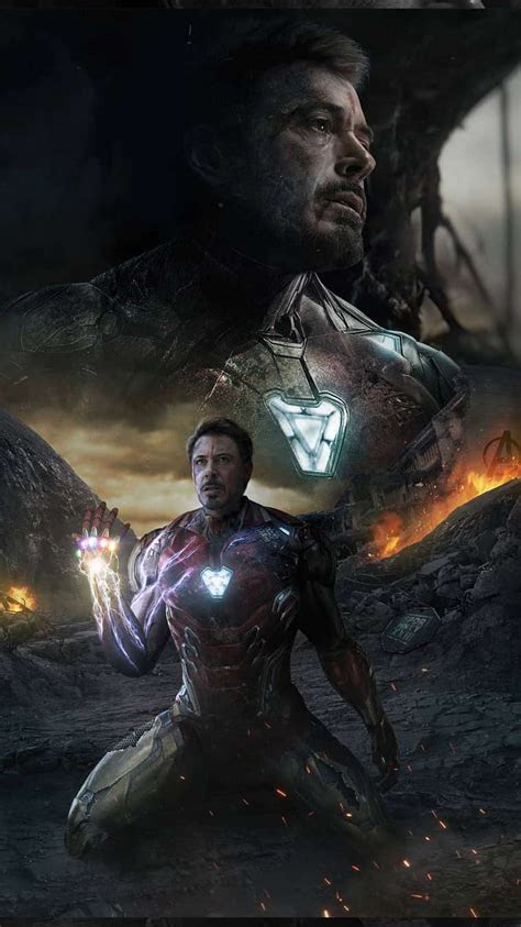 iron man sacrifice endgame snap iphone wallpaper iphone