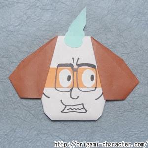 折り紙 妖怪ウォッチじんめん犬の折り方 キャラクター折り紙com