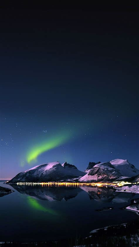 wallpaper aurora filled night sky star iphone
