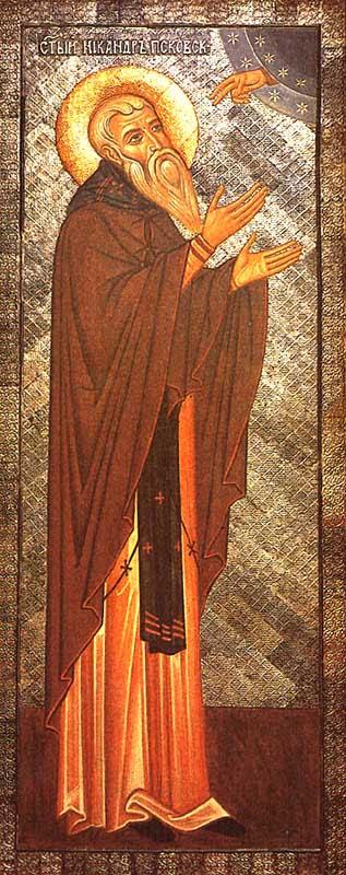 IMG ST. NICANDER Venerable the Hermit of Pskov