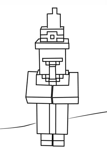 Dibujo De Bruja De Minecraft Para Colorear Dibujos Para Colorear