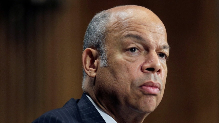 "June 30, 2016: Homeland Security Secretary Jeh Johnson testifies before a Senate Judiciary Committee hearing on ""Oversight of the Department of Homeland Security"" in Washington."
