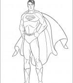 Coloriage Superman Gratuit A Imprimer