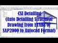 ETABS or SAP2000 - CSI Auto Structural Detailing Drawing