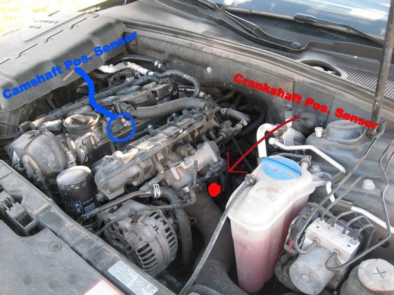 2009 Audi A4 Camshaft Position Sensor