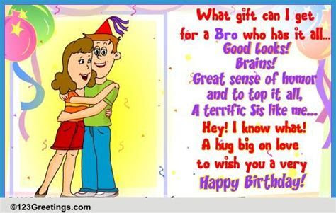 Perfect Gift For You Bro! Free For Brother & Sister eCards