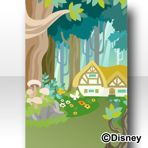 Trade 森の背景 昼白雪姫ディズニー