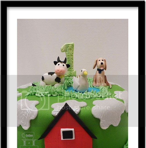 Coffee And Cakes: 1st Birthday Cake With Barnyard Theme