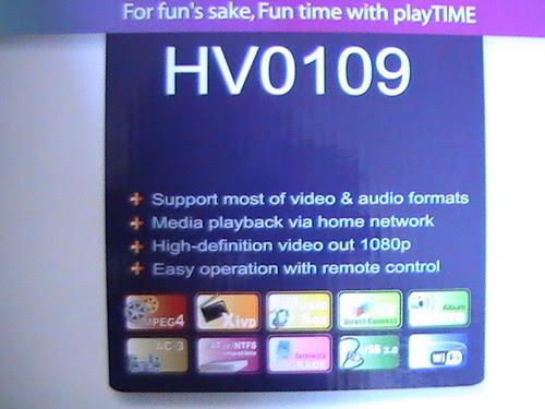 Mediaspelare playTIME HV0109