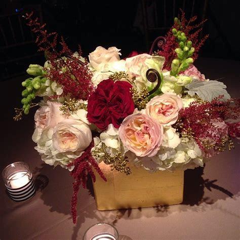 burgundy blush and gold centerpiece   Christmas wedding