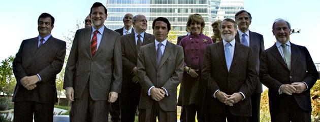 Aznar recuerda tiempos mejores