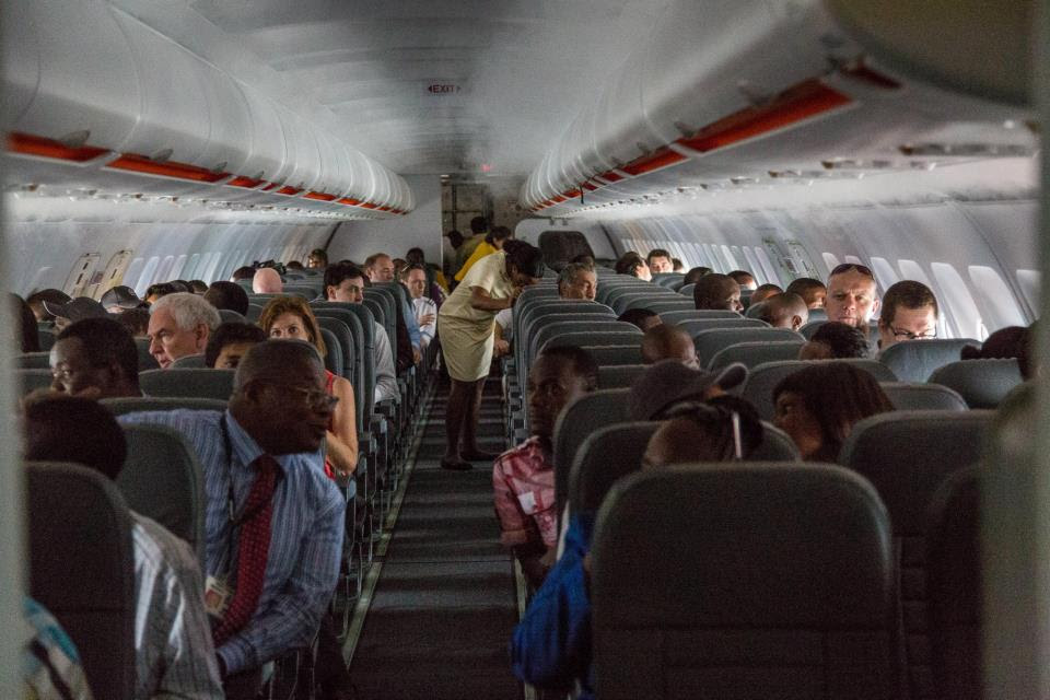Onboard a Fastjet flight
