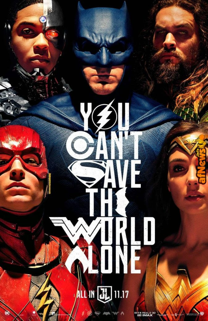 Justice League Poster: You Can't Save The World Alone!