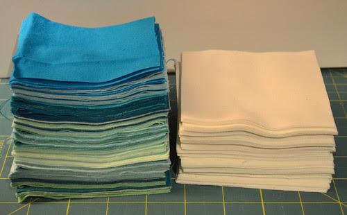 Sea glass colours - for Julie's pattern Mod Pop