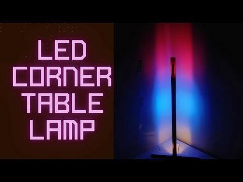 LED Corner Table Lamp DIY Easy To Build Colorful Light - Lighting Ideas👌