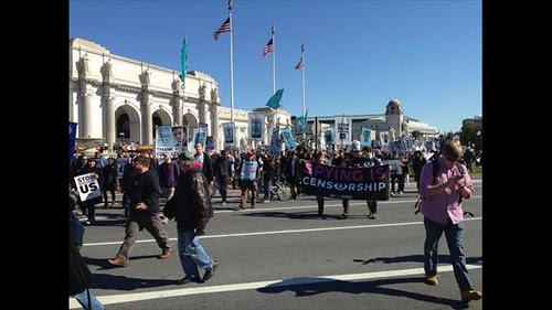 Thousands demonstrated against the National Security Agency and spying by the United States government in Washington, D.C. The event was held on Sat., October 26, 2013 by Pan-African News Wire File Photos