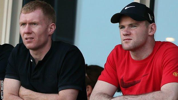 Wayne Rooney Paul Scholes