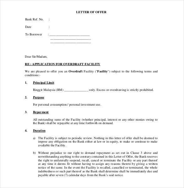 70 Offer Letter Templates Pdf Doc Free Premium