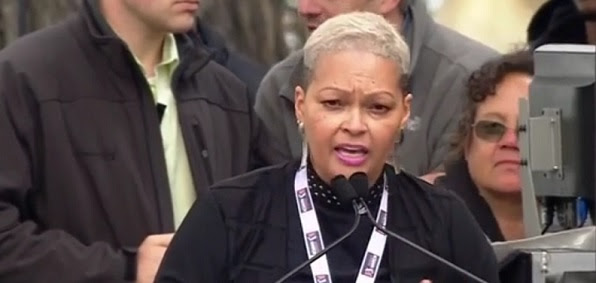 Donna Hylton speaking at the Women's March on Washington, Jan. 21, 2017 (Photo: Screenshot)
