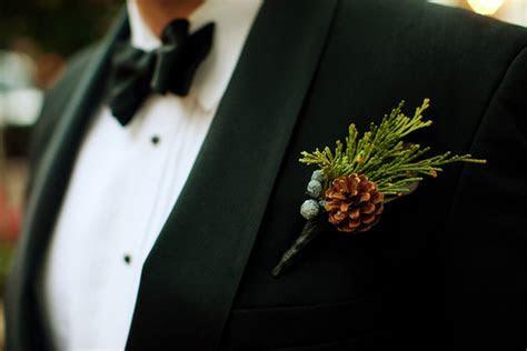 southern wedding pinecone boutonniere