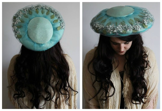 1950's hat collage