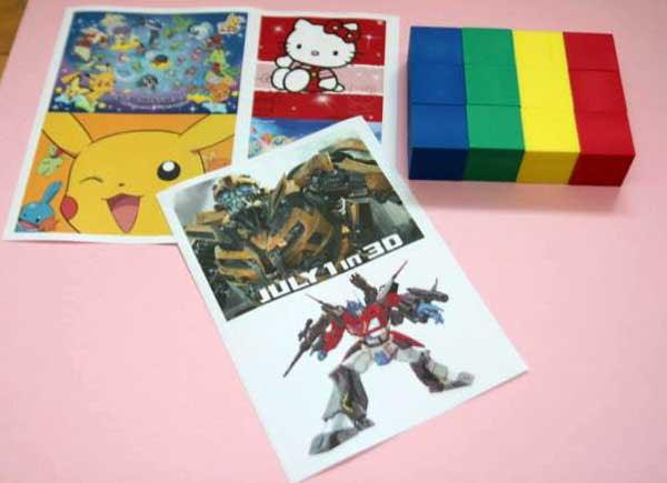 diy 自製 卡通圖像拼圖 貼紙 骰子 photos puzzles blocks cubes
