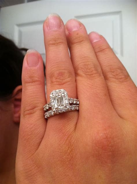 Emerald Cut Diamond Engagement Ring With Baguettes And
