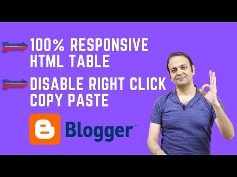 How To Create Responsive Table In HTML | How To Disable Right Click Copy Paste On Blogger Website