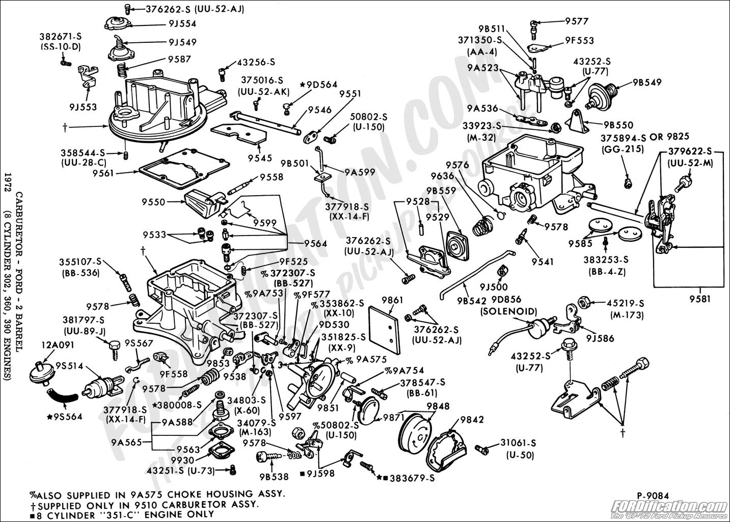 Motorcraft 2 Barrel Carburetor Diagram