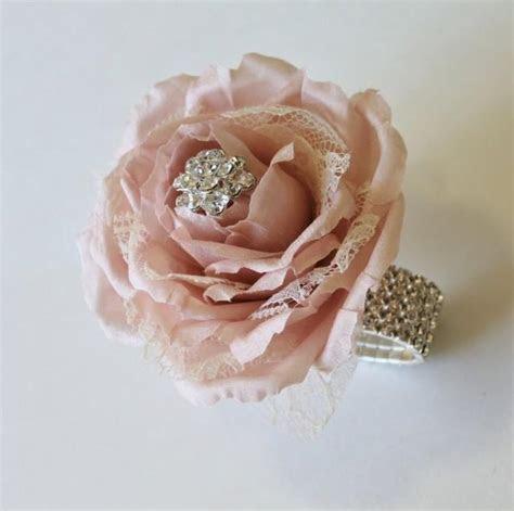 Wrist Corsage Blush Wedding Corsage Mothers Corsage Silk