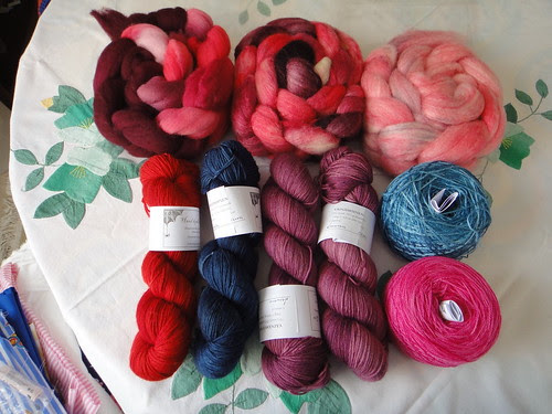 Knitlob's Lair yarns and rowings.