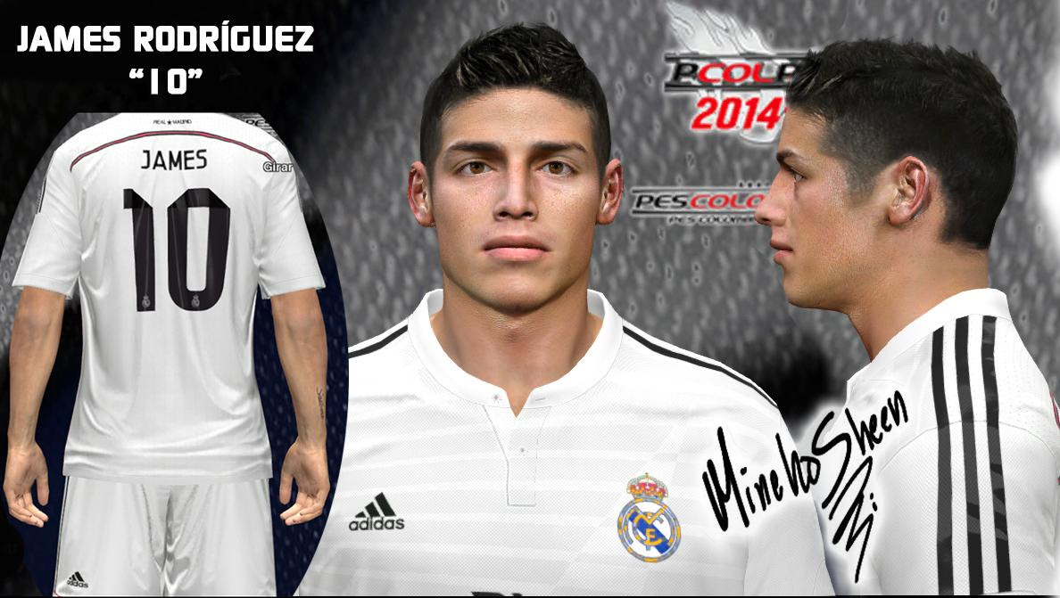PES 2014 James Rodríguez Face by MinchoSheen