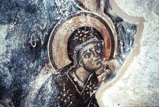 Μια τοιχογραφία στη Ροτόντα  στην Επισκοπή