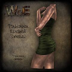 Tatiana Ruched Dress - Green