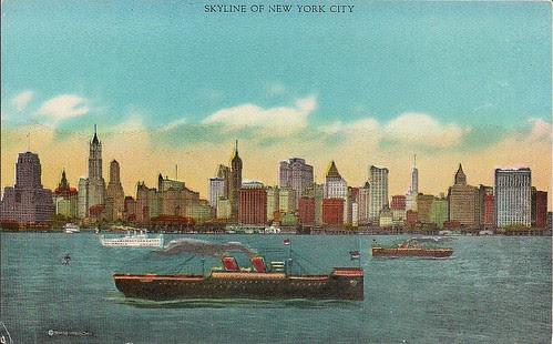 (Undated) Skyline of New York Postcard (Front)