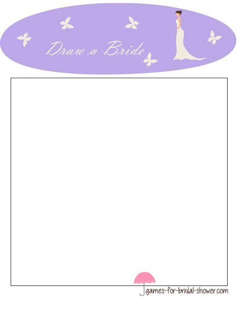 Free Printable Draw a Bride Game