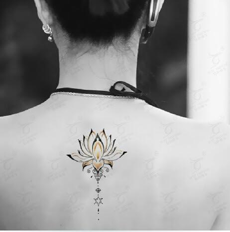 Al Por Mayor Temporal Del Tatuaje Del Tatuaje Del Loto Pegatinas