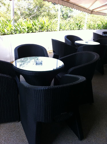 Outdoor (Smoking) area at the Executive Club Lounge