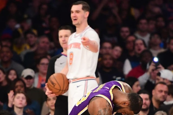 cc59a6947264 Knicks  Mario Hezonja Attributes Game-Winning Block On Lakers  LeBron James  To Not Caring