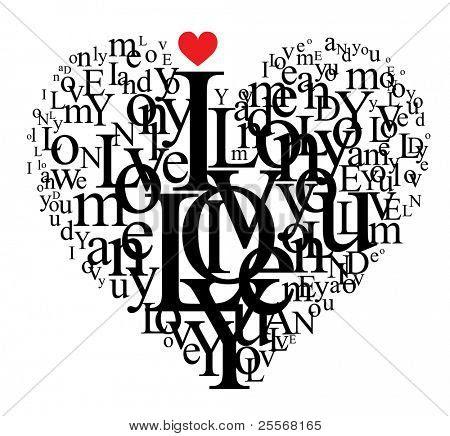 Letras En Forma De Corazon Hd 1080p 4k Foto