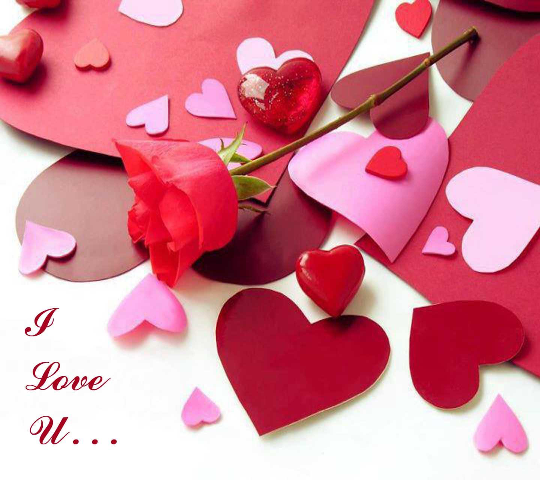 i love u heart wallpaper image hd free