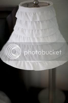 DIY Ruffle Lamp Shade