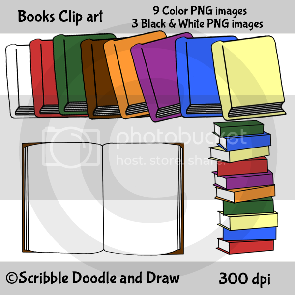 Book clip art for teachers making printables to sell