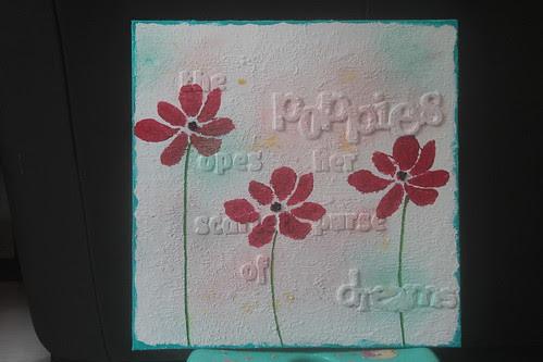 """Mixed Media Canvas, """"Poppies"""""""