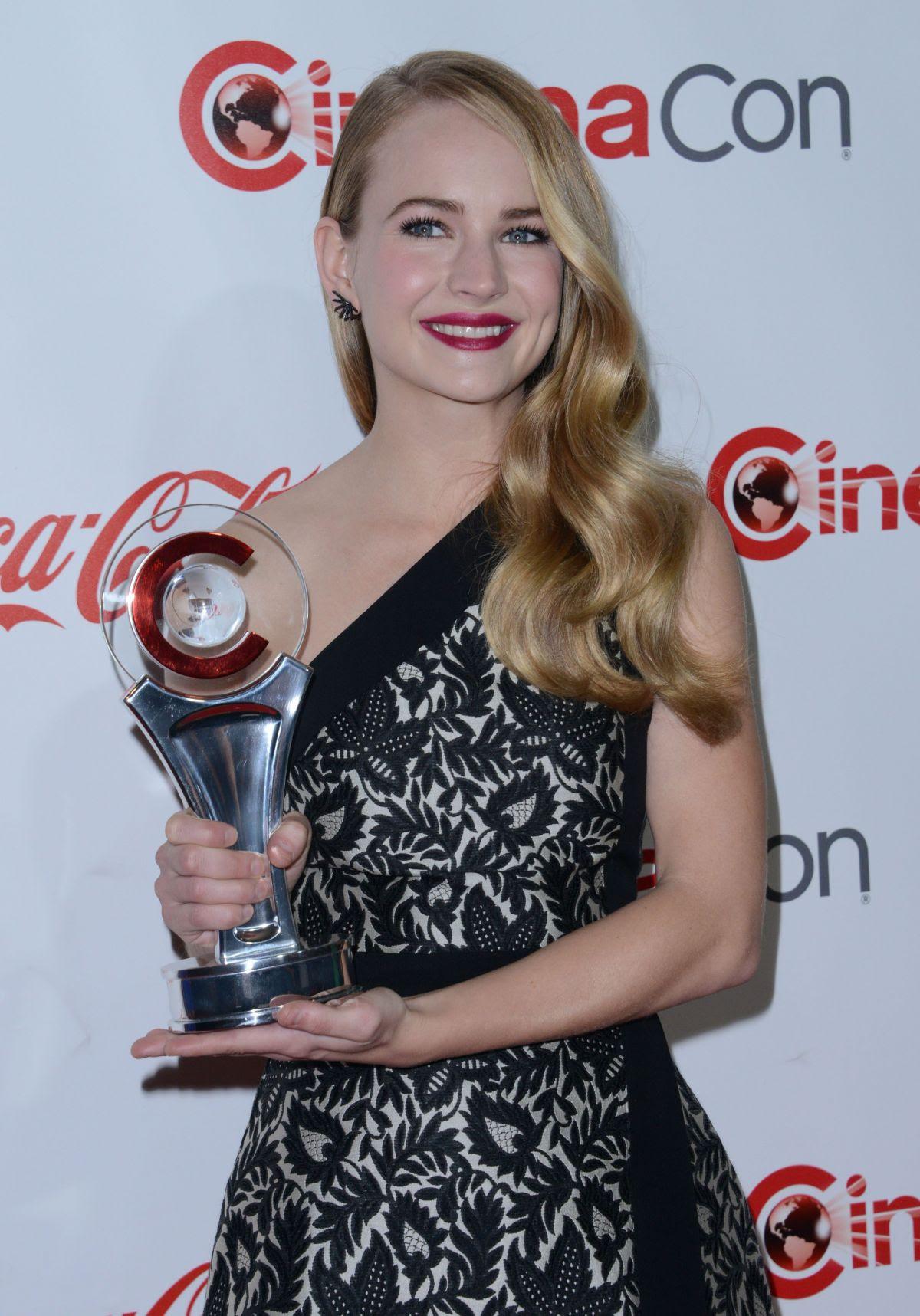 BRITT ROBERTSON at Cinemacon Big Screen Achievement Awards in Las Vegas