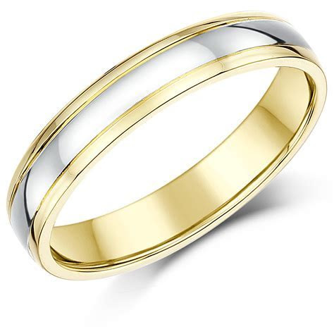 Two Colour Wedding Rings: Two Tone Gold Wedding Bands