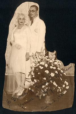 Casamento Yvonne e Ary. Rio, dia 26 de fevereiro de 1930
