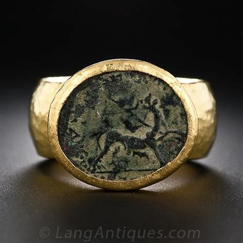 Gurhan 24 Karat Gold Ancient Coin Ring