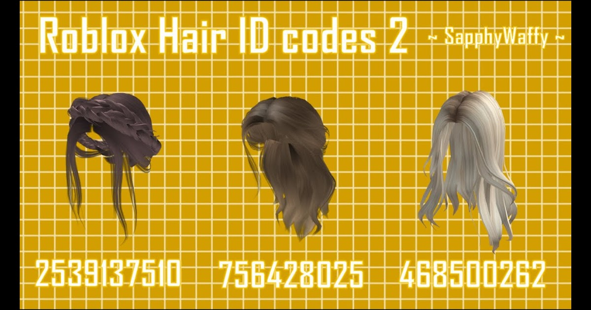 Roblox Hair Id Codes 2021 : Free Roblox Hair Article : Use hair